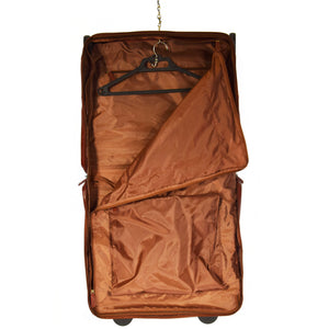 leather suit carrier with an organiser section