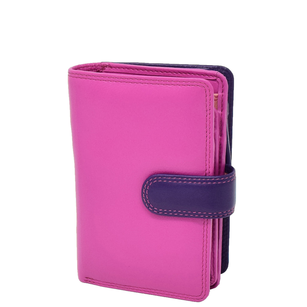 Womens Soft Leather Organiser Purse Lyon Berry Multi