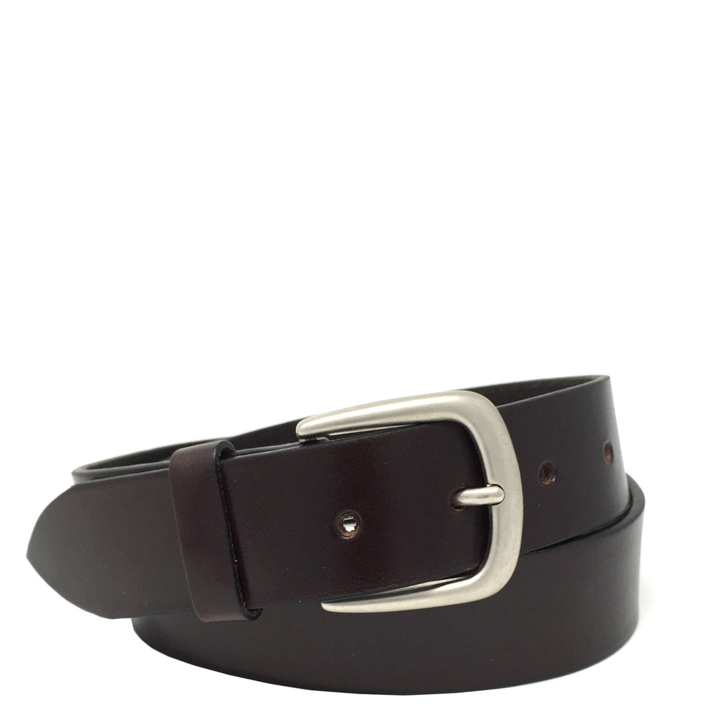 mens leather belt brown