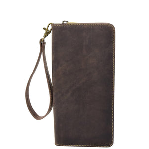 Vintage Leather Travel Documents Wallet Marlo Brown 1