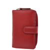 Womens Leather Booklet Style Purse Dublin Red