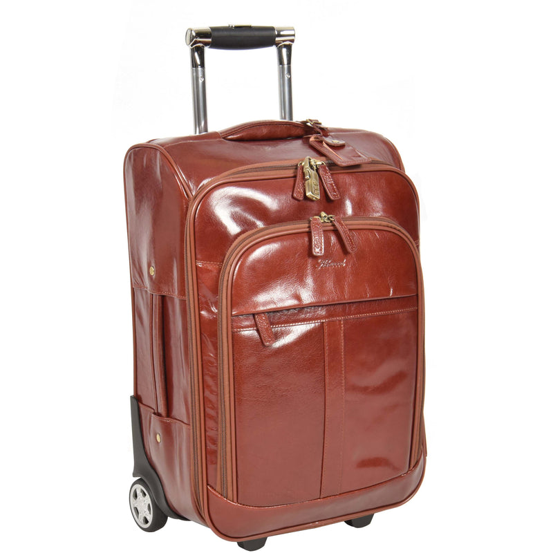 leather cabin size suitcase