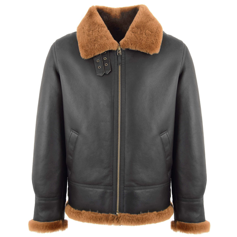 Men's Classic B3 Original Sheepskin Jacket Brown Ginger