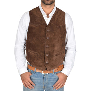 button fastening waistcoat for mens