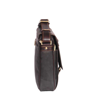 leather bag for mens with an adjustable shoulder strap