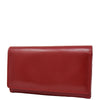 Womens Envelope Style Leather Purse Mary Red
