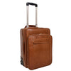 Exclusive Leather Cabin Size Suitcase Kingston Tan
