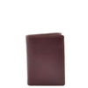 Mens Trifold Leather Credit Card Wallet Titus Brown 1