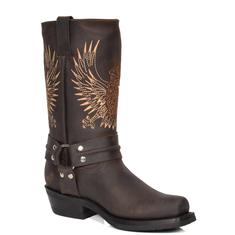 mens leather cowboy boots