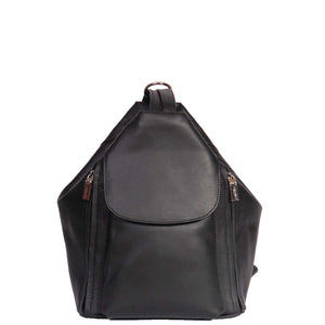 leather triangle shape backpack