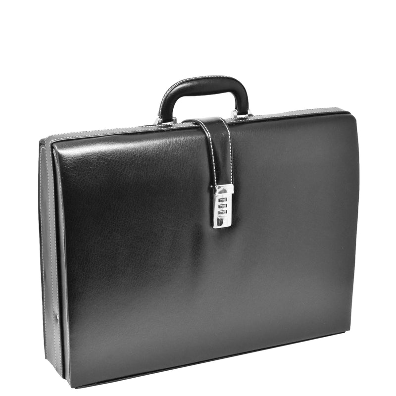 classic leather look briefcase