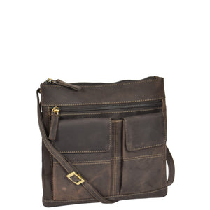 ladies leather flight pouch