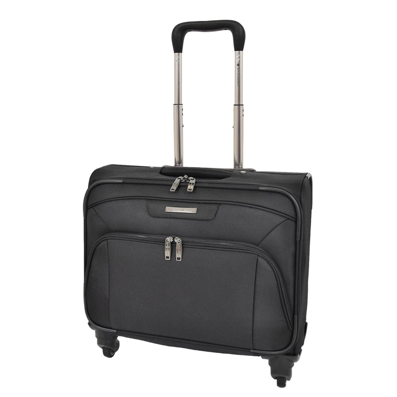 Four Wheel Executive Flight Briefcase H37 Black