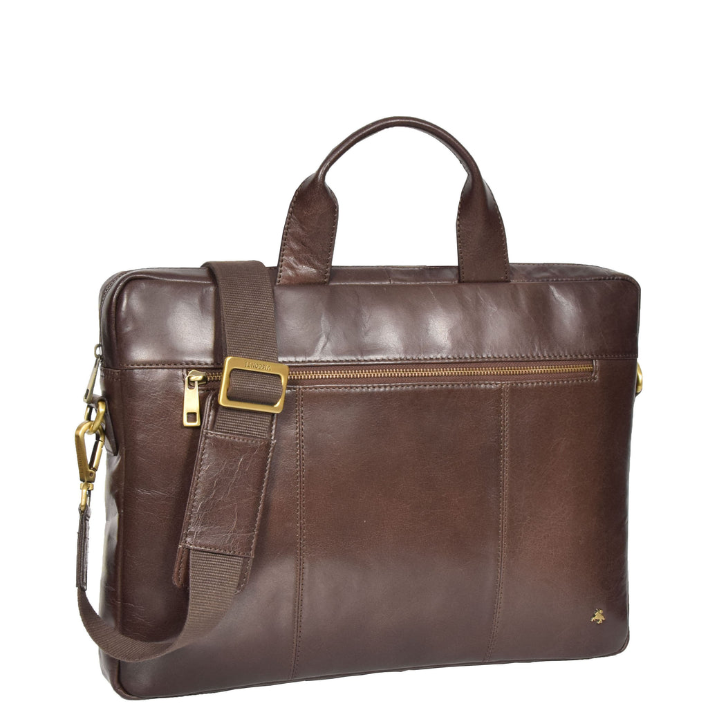 mens leather laptop briefcase