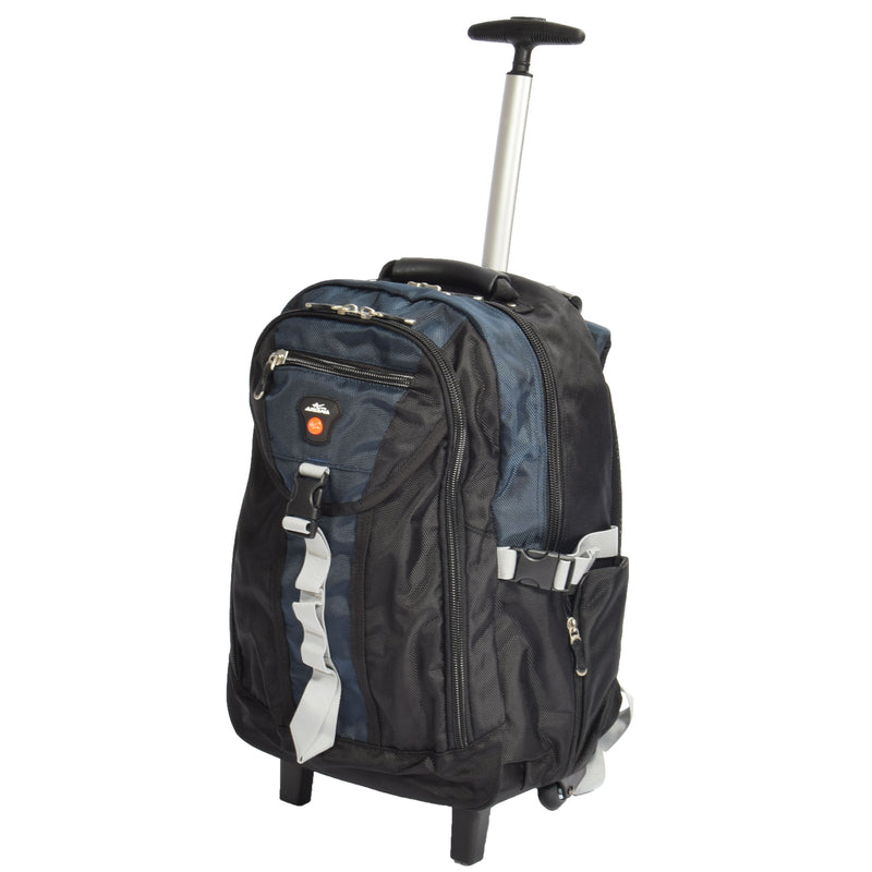 backpack with a top grab handle