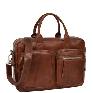 mens leather classic briefcase