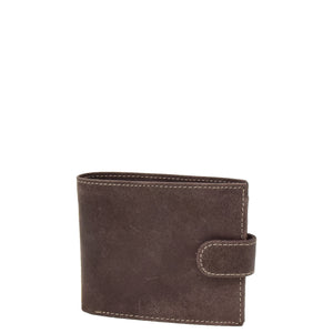 Mens Wallet with a Buckle Closure Hawking Brown 1