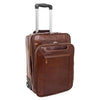 Exclusive Leather Cabin Size Suitcase Kingston Brown
