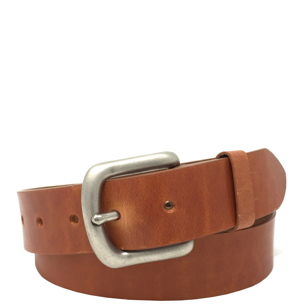 mens leather belt in tan