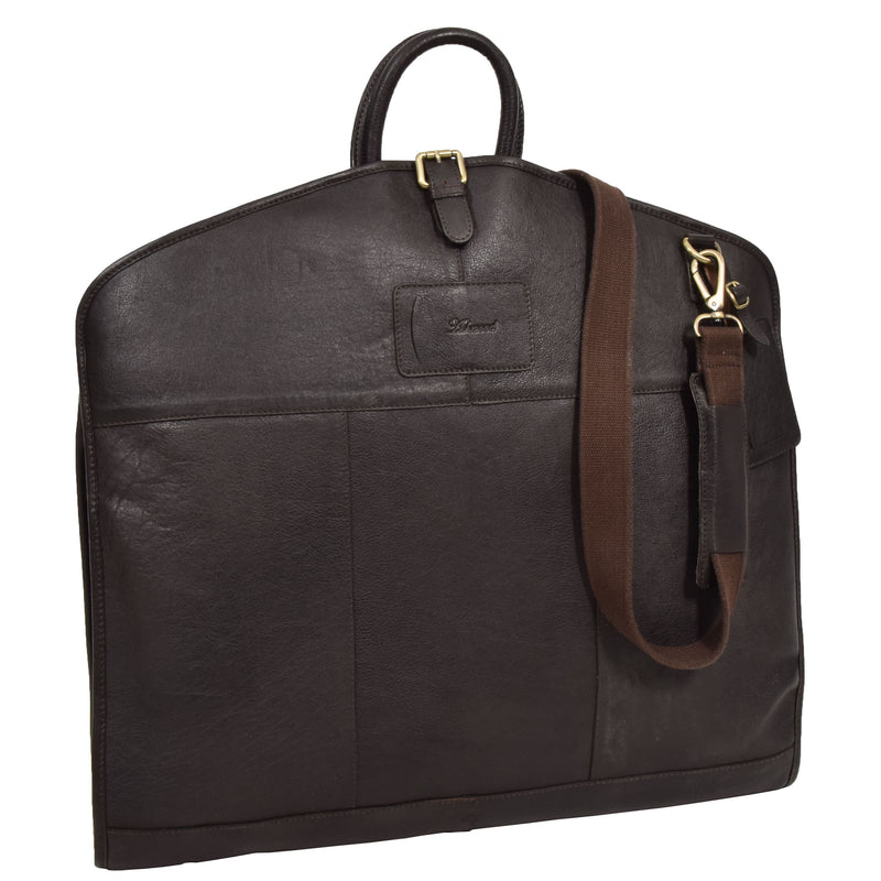 slim fold leather travel bag