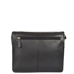 womens leather bag with back zip pocket