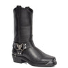 mens slip on biker boots