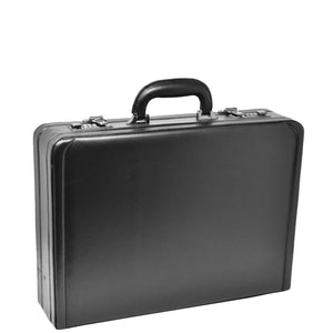 faux leather attache briefcase