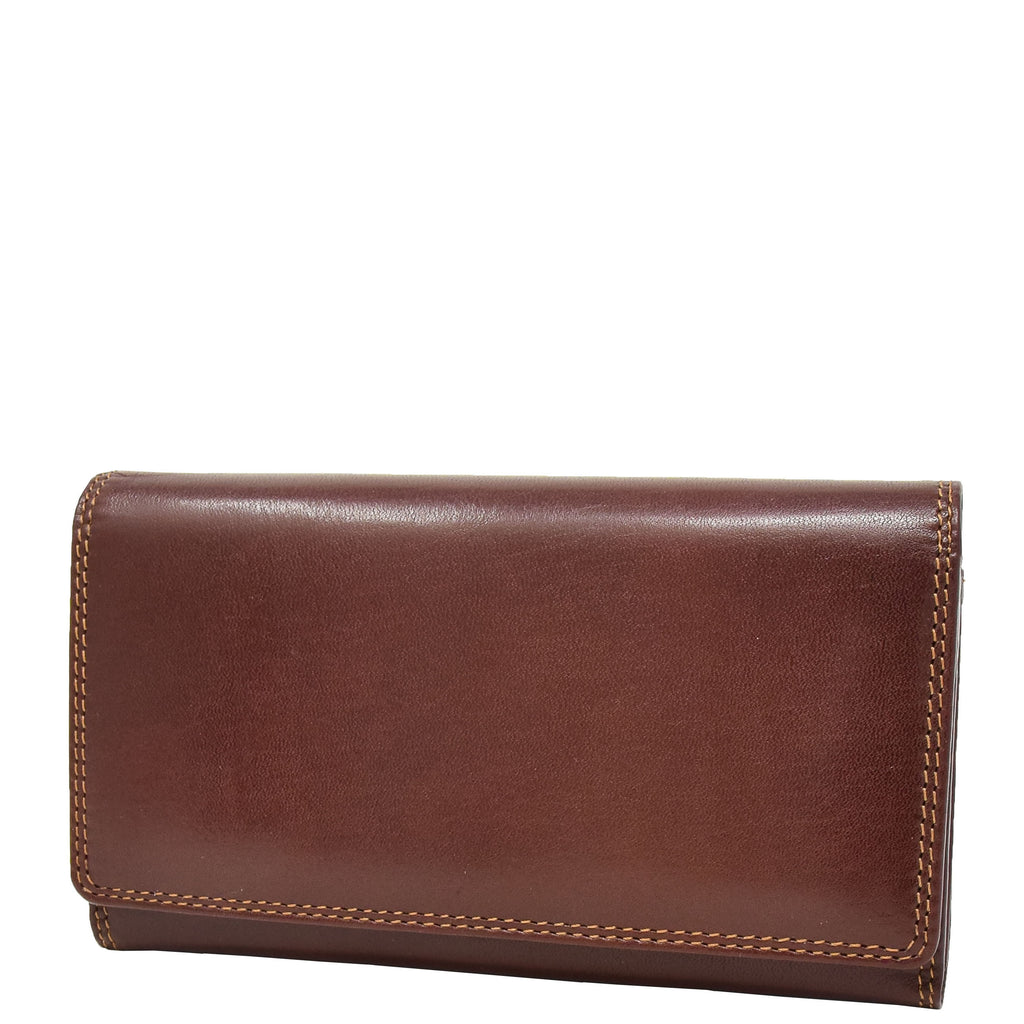 Womens Envelope Style Leather Purse Mary Brown