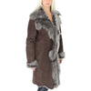 brown brissa shearling coats
