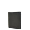Mens Small Bifold Leather Wallet Venus Black 1