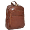 leather backpack in tan
