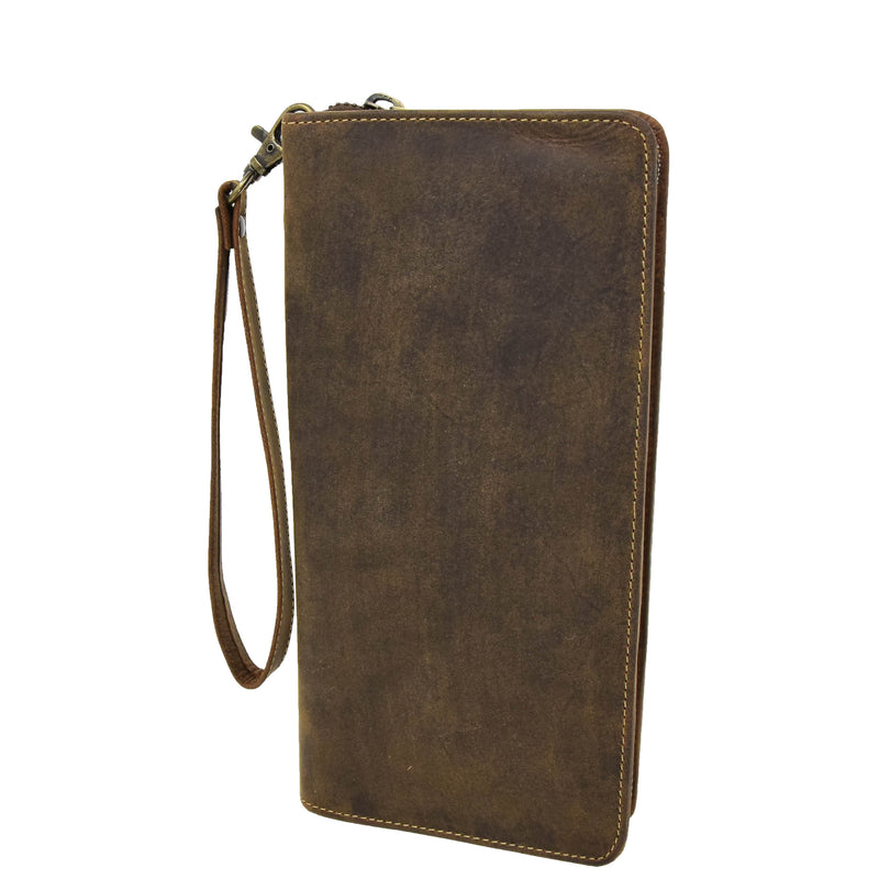 Vintage Leather Travel Documents Wallet Marlo Tan