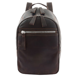 Large Classic Casual Leather Backpack Palermo Brown 2