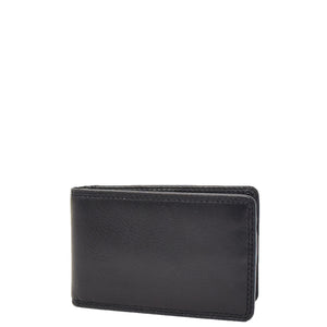Slim Fold Leather Card Wallet Madrid Black