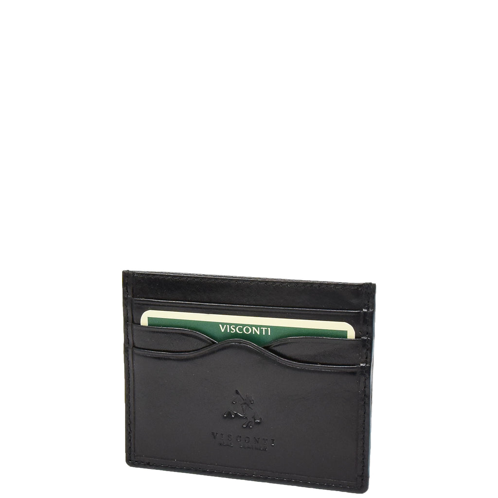 Premium Leather Card Holder Venice Black
