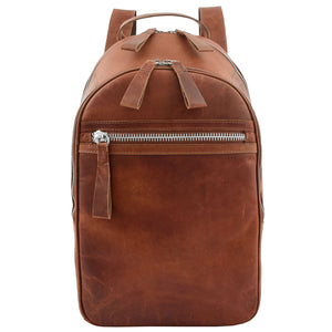 Large Classic Casual Leather Backpack Palermo Tan 2