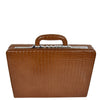 Traditional Croc Print Attaché Case HOL87 Brown 1