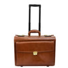 Exclusive Leather Pilot Case Laptop Bag Chester Cognac 1