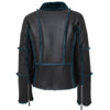 Womens Sheepskin Aviator Pilot Jacket Valerie Black Green 1