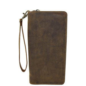 Vintage Leather Travel Documents Wallet Marlo Tan 1