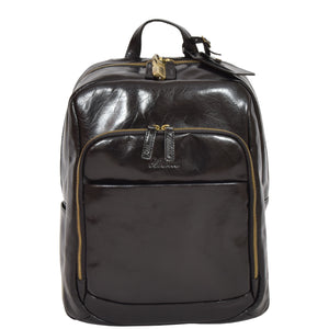 mens leather laptop backpack