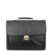 Mens Faux Leather Flap Over Briefcase Windsor Black 2