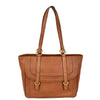 Womens Leather Classic Shopper Fashion Bag Sadie Tan front