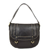 Womens Leather Cross Body Handbag Mila Black front