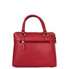 Womens Leather Small Tote Cross Body Bag Everly Red 1