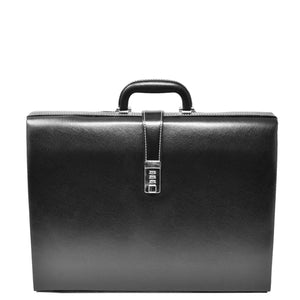 lockable faux leather bag