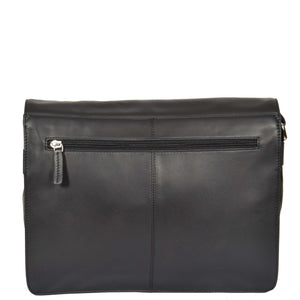 ladies leather bag with a zip pocket