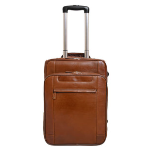 Exclusive Leather Cabin Size Suitcase Kingston Tan 1