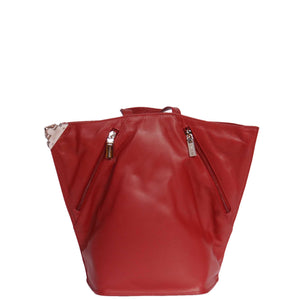 ladies leather backpack with inside zip pocket