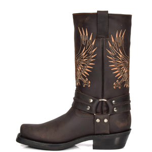 western style leather boots